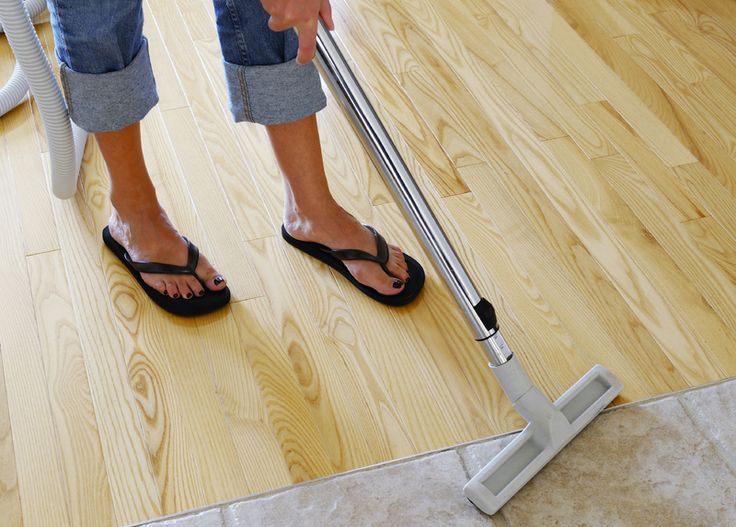 Central Vacuum Systems Buying Guide |I like the lack of a transition piece between tile and wood here!
