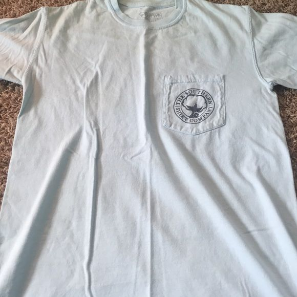 Light blue southern shirt company t-shirt Worn few times ; very comfortable Southern Shirt Co Tops Tees - Short Sleeve