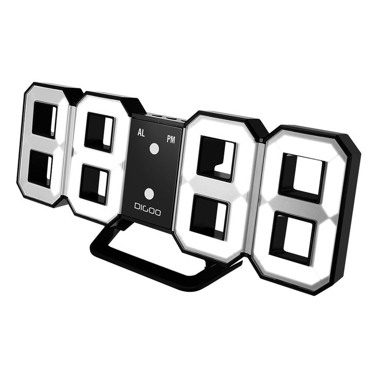 Multi-Function Large 3D LED Digital Wall Clock Alarm Clock With Snooze Function 1224 Hour Display. ECA Listing By Annies Store, South Africa