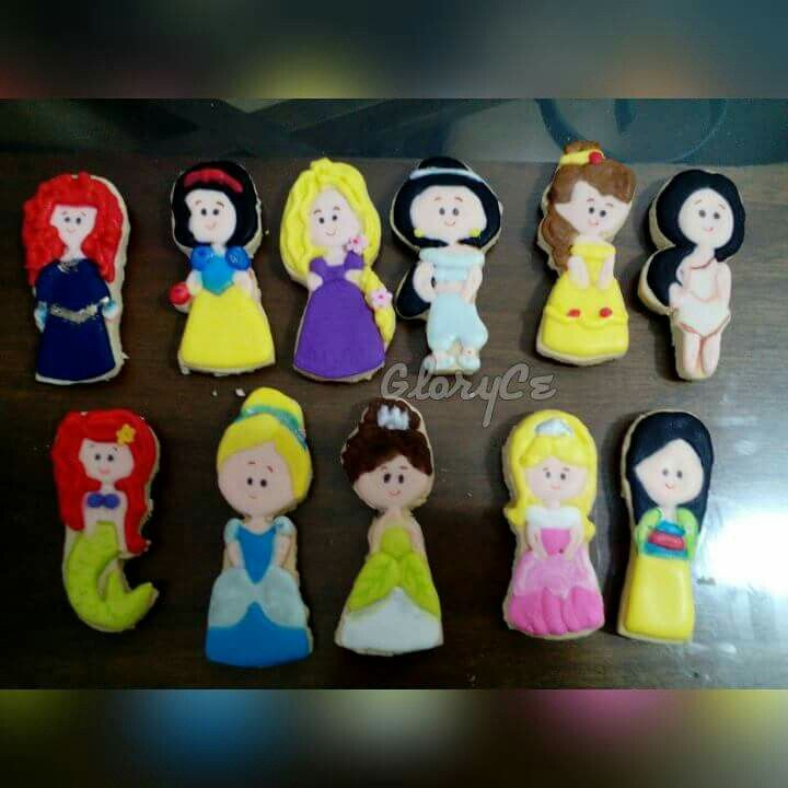 Galletas princesas disney