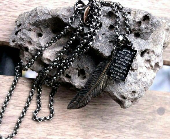 Angel necklace silver medieval of divina commedia dante alighieri shop www.ipstyle.it