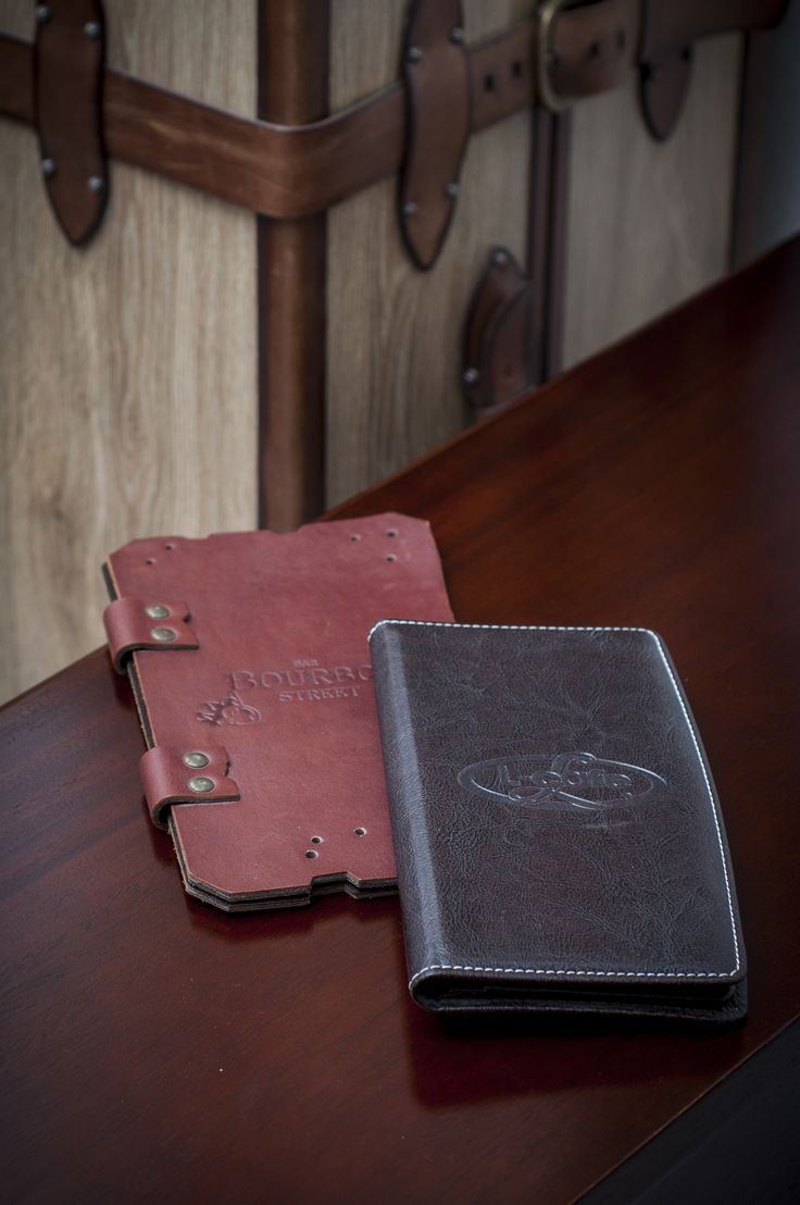Folders for menus and wine lists