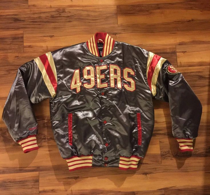 A personal favorite from my Etsy shop https://www.etsy.com/listing/590870445/vintage-49ers-jacket-men-size-medium-by