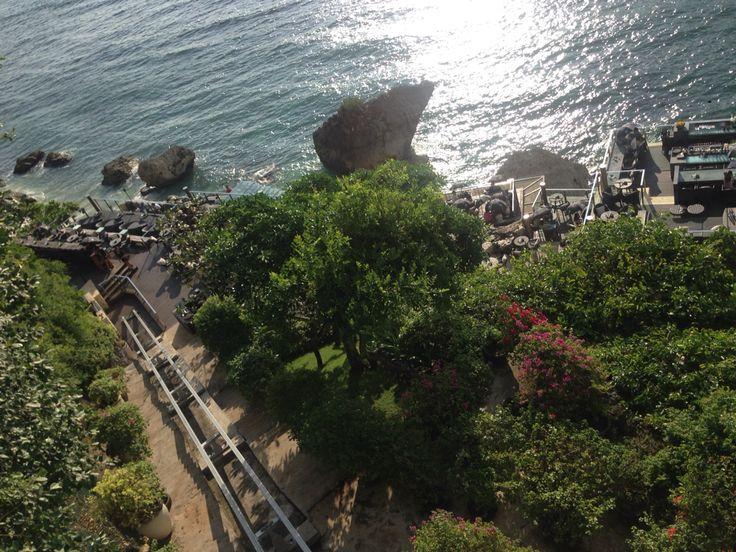 Going down.. Hello ROCK BAR..!!! Stunning view..  Jimbaran › Ayana Resort and Spa, Jl. Karang Mas Sejahtera, Jimbaran, Bali