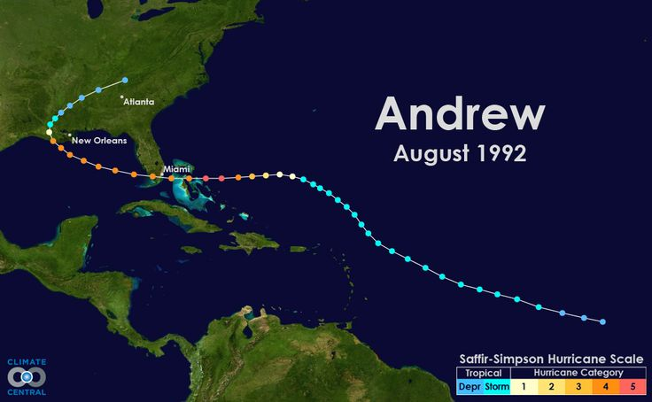 Hurricane Tracks: 10 Recent Major Storms to Hit the U.S. - It's been 20 years since Hurricane Andrew struck the coast of Florida as a Category 5 storm and made history as America's most expensive natural disaster – a record that held until Hurricane Katrina in 2005. Here's a look at 10 recent major hurricanes (storms of at least Category 3 intensity) to make landfall in the U.S. Hurricane Irene from 2011 is also included here,