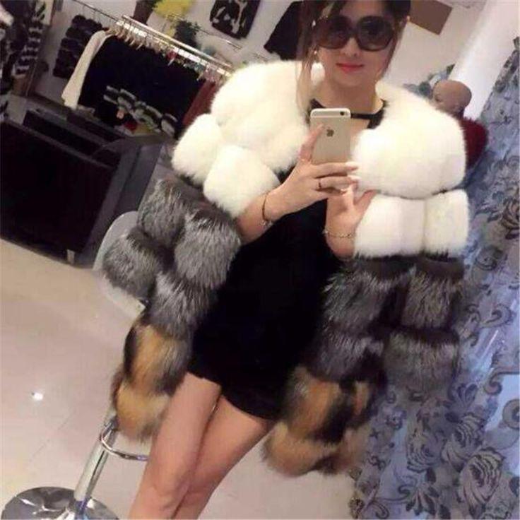 Купить Новые женские зимние роскошь натурального меха лисы пальто полным ходом контрастного цвета середина длинное пальто 20151013   1и другие товары категории Мех натуральный и искусственныйв магазине shopping mall ChinaнаAliExpress. куртка рыбы и пальто мужские