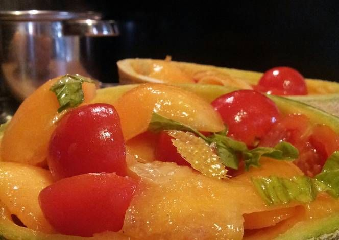 "AMIEs ""Insalata di Melone"" Recipe -  Yummy this dish is very delicous. Let's make AMIEs ""Insalata di Melone"" in your home!"