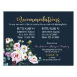 Boho Peonies Floral Modern Accommodations Card...