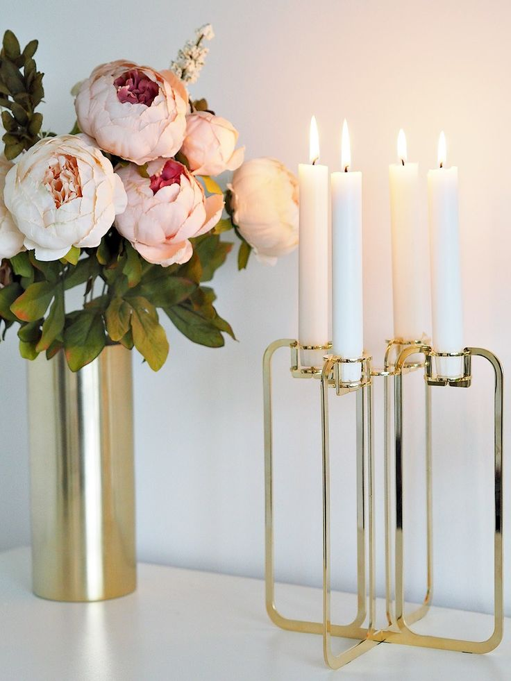 Be and Liv Gold plated Quartet candelabra, come flat packed for a great unique gift. Elegant and minimal design from a young Finnish company. http://bit.ly/2wGkRBQ