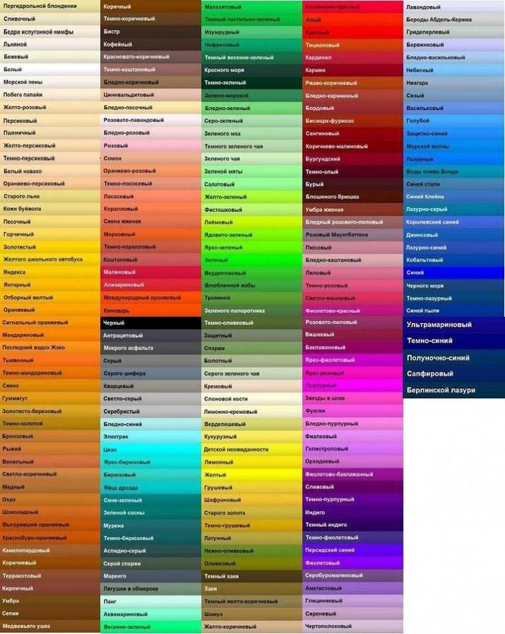 цвет, цветовая палитра, цветовая гамма, колорит, подобрать цвет