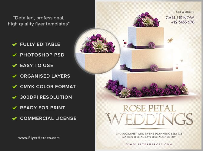 Wedding-Flyer-Template-3jpg (670×500) Wedding design - wedding flyer