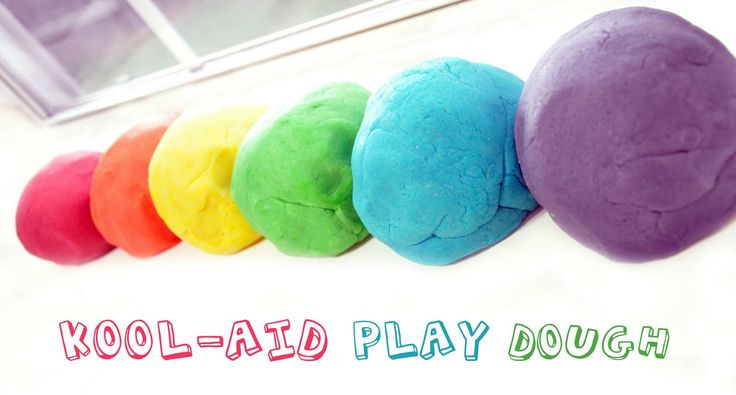 Running With Glitter: Kool-Aid Play Dough