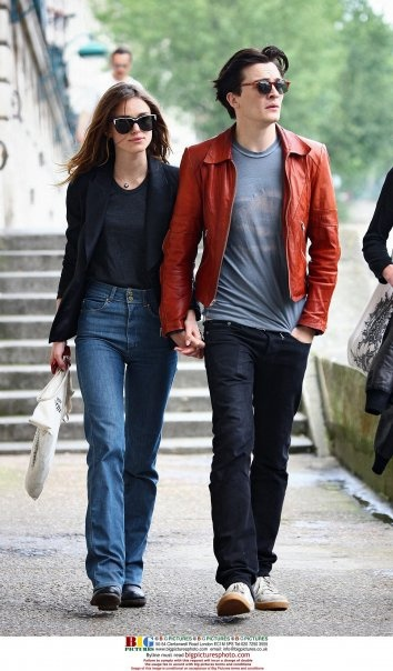 Keira with her ex, Rupert Friend