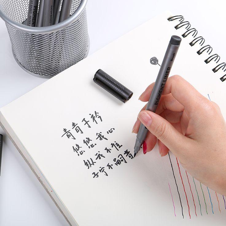 3 PCS Kualitas Tinggi Asli Lembut Lukisan Kaligrafi Sikat Plastik Menangani Sikat Menulis Anak Hadiah Sekolah Mengajar Alat