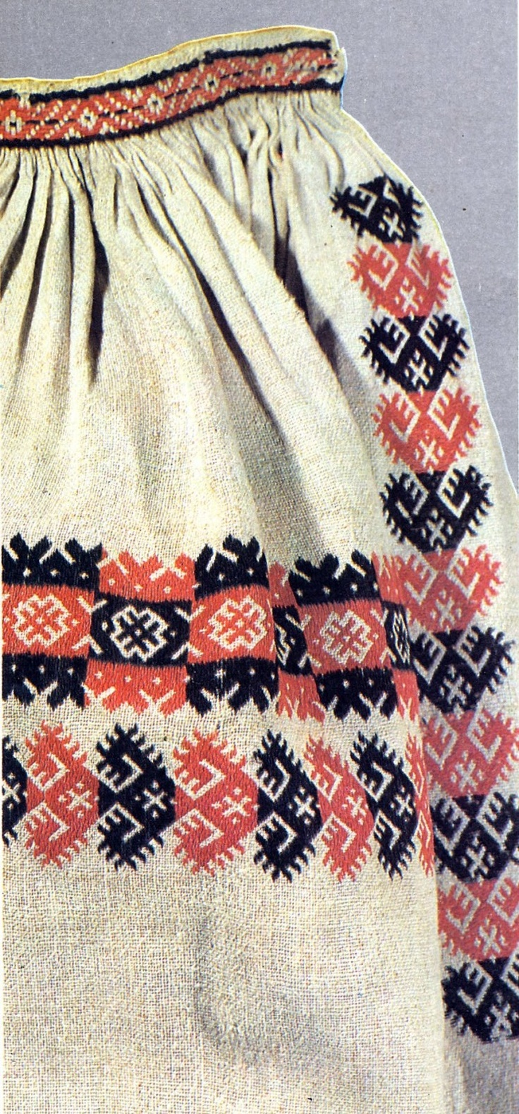 FolkCostume: Nyz embroidery of Eastern Podillia, Ukraine