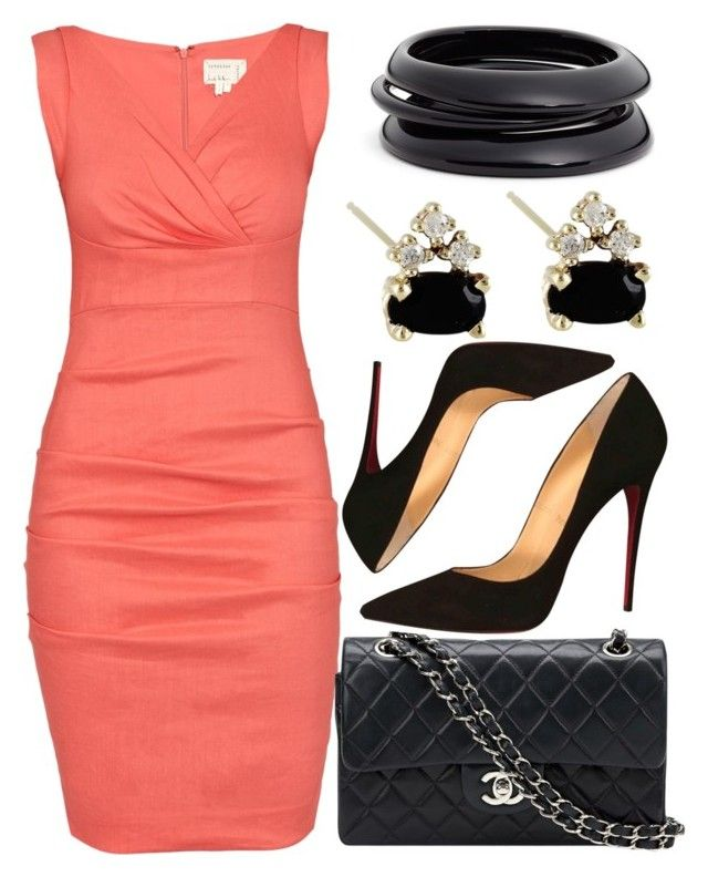 """""""Reef Me Up"""" by egordon2 ❤ liked on Polyvore featuring Nicole Miller, Chanel, Christian Louboutin and ZENZii"""