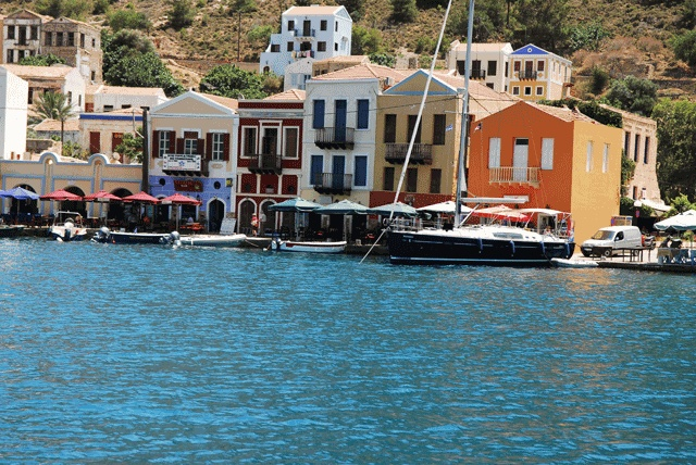 Harbour Houses: #Kasterlorizo Island, #Greece (Also #Castelorizo or #Megisti) the easternmost #Greek Island Source: Official Tourism Site http://www.megisti.gr