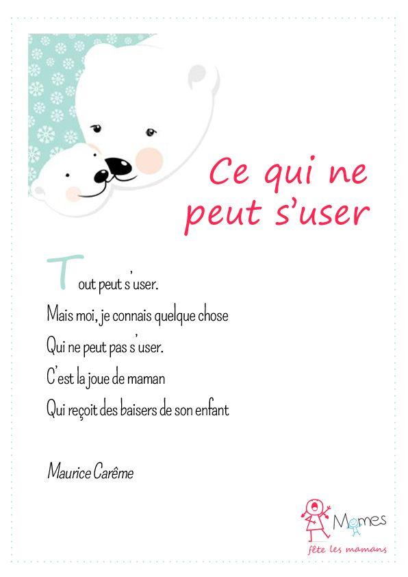 poème fête des mères Ce qui ne peut s'user