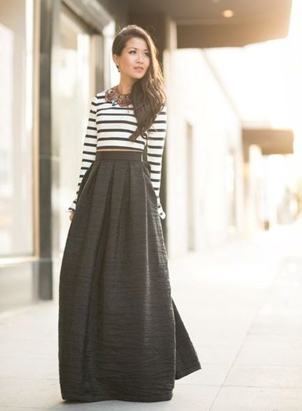 Maxi Skirt Outfits Ideas for Girls <3 Work Outfitd <3