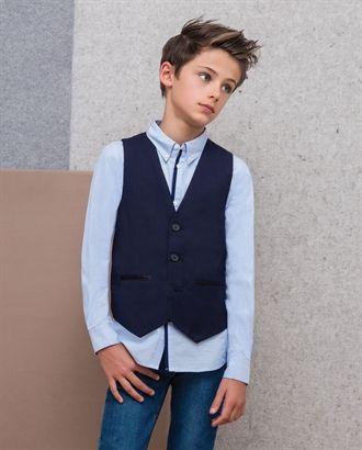 Little Boy's London Suit Vest - Bardot Junior