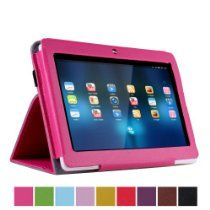 """NSSTAR PU leather Slim 7 inch tablet Folio Protective Cover Case with Stand for 7"""" Dragon Touch A13 Q88,Y88,Zeepad,Chromo,FastTouch,Alldaymall,Noria Jr,Noria T2, Matricom Tab Nero, Tagital with Dual Camera Tablet PC (Rose Red) From NSSTAR http://astore.amazon.com/tourtravandre-20/detail/B00HLV7ZPE"""