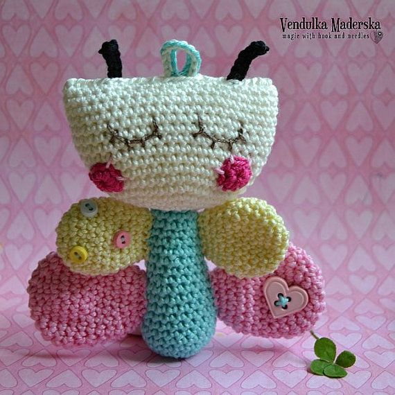 Crochet butterfly pattern by VendulkaM on Etsy
