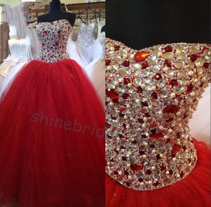 Quinceanera dresses red vestido de Quinceanera de bola vestidos de 15 años dulce 16 vestidos barato