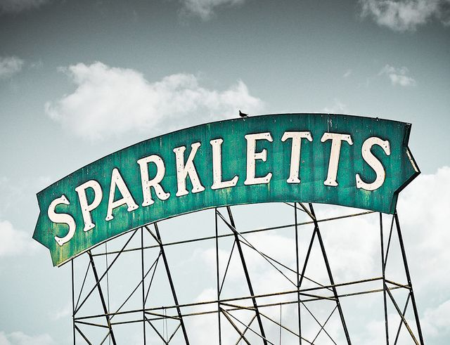 Sparkletts Water by Shakes The Clown, via Flickr: Design Inspiration, Sparklett Water, The Angel, Vintage Signs, Photographers Vintage, Signs Language, Old Signs, Birds, Clowns
