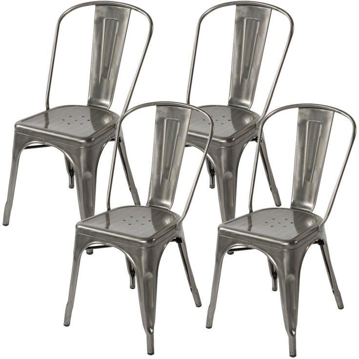 17 Best Images About Kitchen Chairs Gun Metal On Pinterest Bistro Kitche