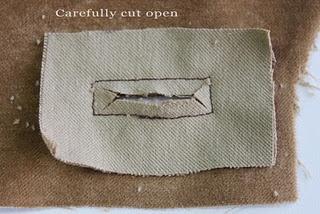bound buttonhole tutorila - from Sharon Sews