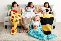 Yarnspirations Double Scoop Crochet Snuggle Sack and Slumber Party Lookbook