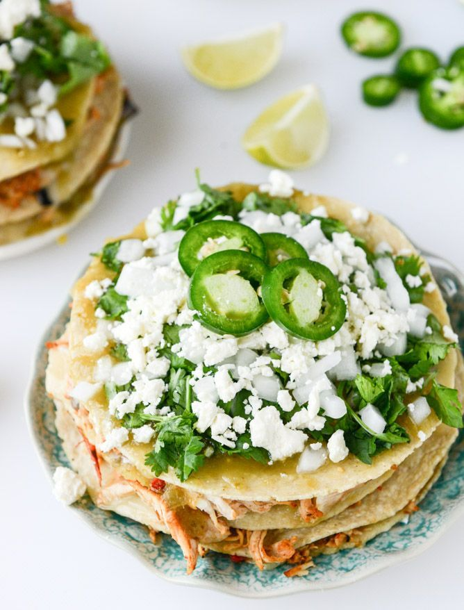 Roasted Chipotle Chicken Taco Stacks.