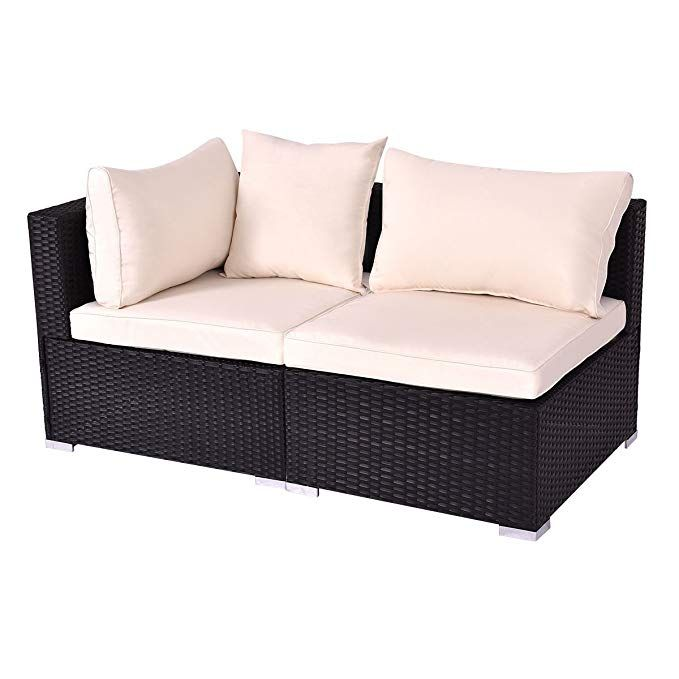 Tangkula Outdoor Wicker Furniture Set Infinitely Combination