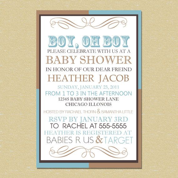 western baby shower invitation boy or girl custom western baby shower