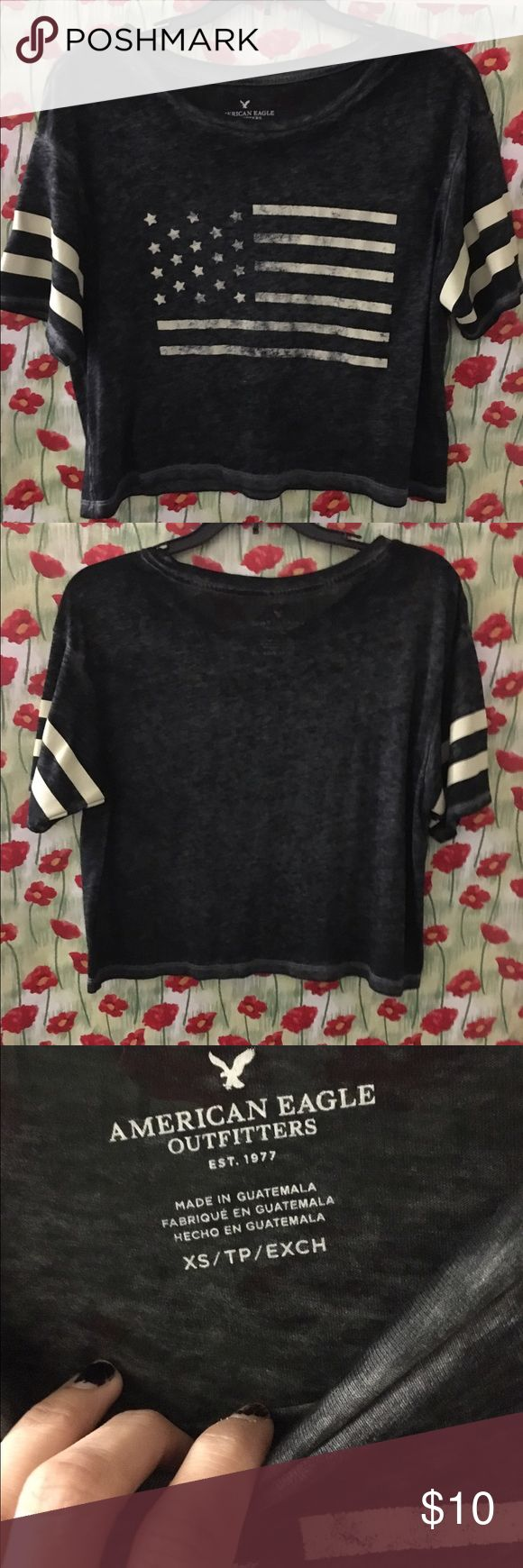 American Eagle Outfitters Flowy T shirt American Eagle Outfitters Flowy T shirt. Preowned excellent Condition. American Eagle Outfitters Tops Crop Tops