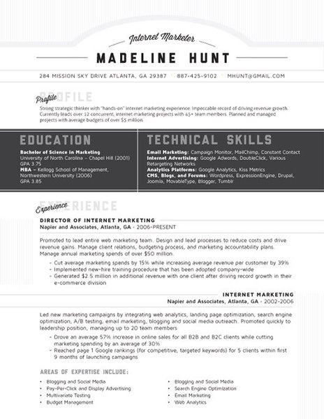 119 best Job Search Tips images on Pinterest Creativity, Good - digital marketing resume sample