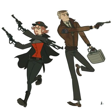 Early Cold War Era Black Widow and Nick Fury