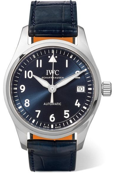 IWC SCHAFFHAUSEN | Pilot's Automatic 36 alligator and stainless steel watch | NET-A-PORTER.COM