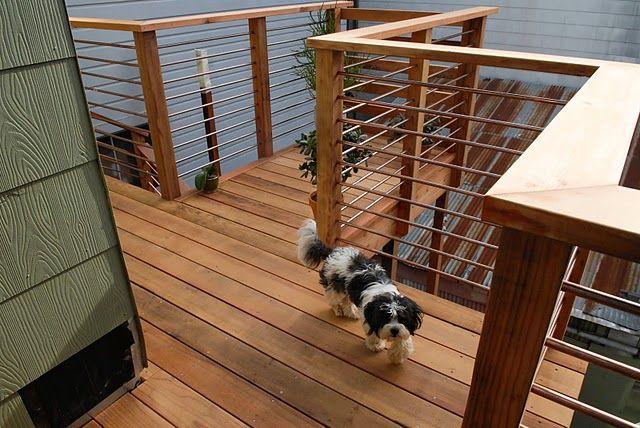 railing idea for back porch