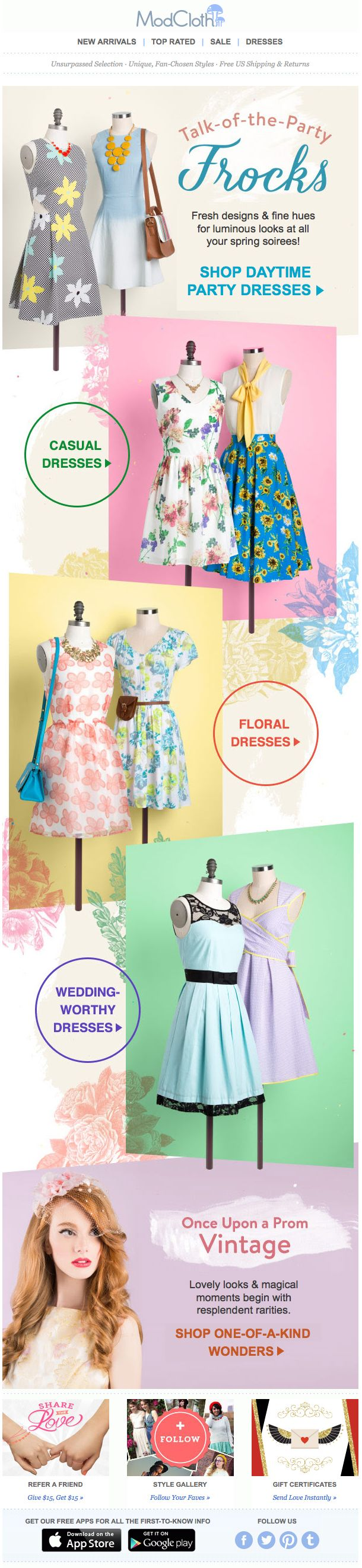 ModCloth : Use Of Pattern/Texture