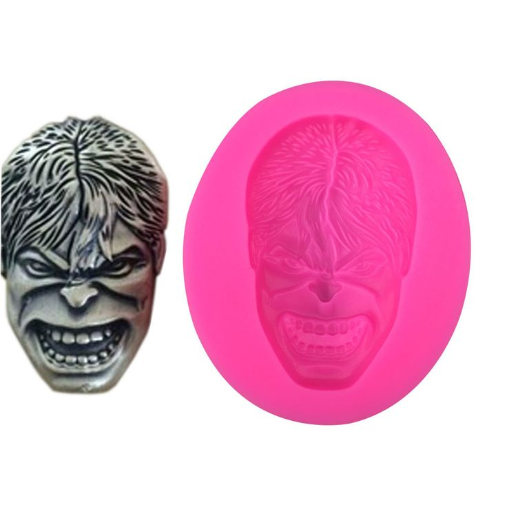 1 x The Hulk Face Silicone Mold Mold Size: 7.2 cm x 1.2 cm (W X D) Material: Silicone Temperature: -40° ~ +230° ★ Easy to clean ★ Food Safe, FDA Approved ★ Can be used in the refrigerator, oven, dishw