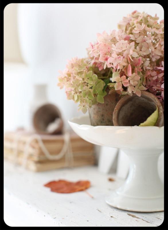 hydrangeasDecor, Dreamy White, Fall Mantles, Soft Pink, Cottages Mantles Ideas, Peachypink Colors, Heavens Hydrangeas, Pretty Flower, Flower