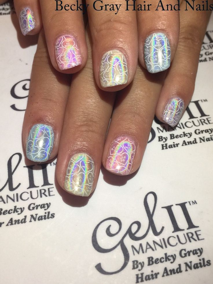 #gelii #manicure pink puddle, frou frou blue , peppermint pony , banana pie, Mary go Berry #magpieglitter #aurora #nailart #showscratch