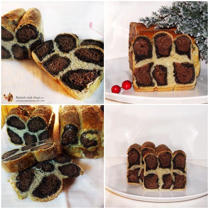 """Acum ceva vreme am vazut pe net ideea unui cozonac cu cacao """"Leopard"""", dupa care am vazut si painea """"Leopard""""."""