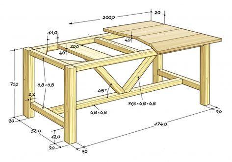 Esstisch selber bauen: Bauplan