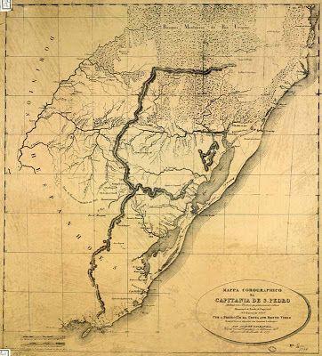 Imagens Históricas: Rio Grande do Sul - Mapas antigos
