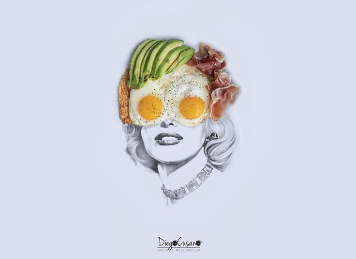 Food Used To Finish Beautiful Pencil Illustrations by Diego Cusano   Foodiggity