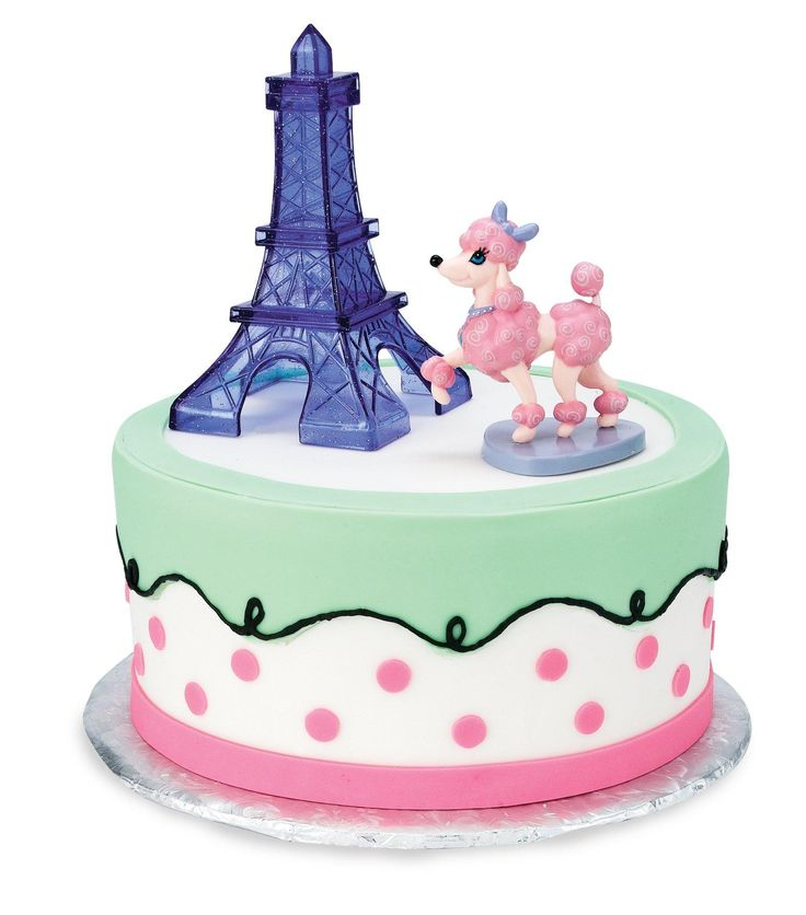 Pink Poodle in Paris Cake Toppers from BirthdayExpress.com