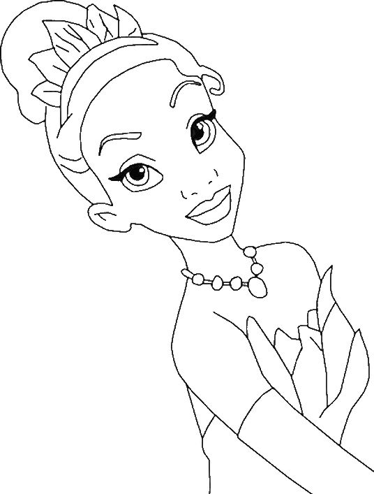 Photos Princess Tiana Coloring Pages