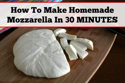 homemade mozzarella in 30 min. |  http://www.simplebites.net/the-best-party-trick-ever-how-to-make-thirty-minute-mozzarella/